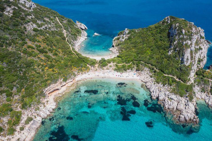 plaża Porto Timoni na Korfu, Grecja